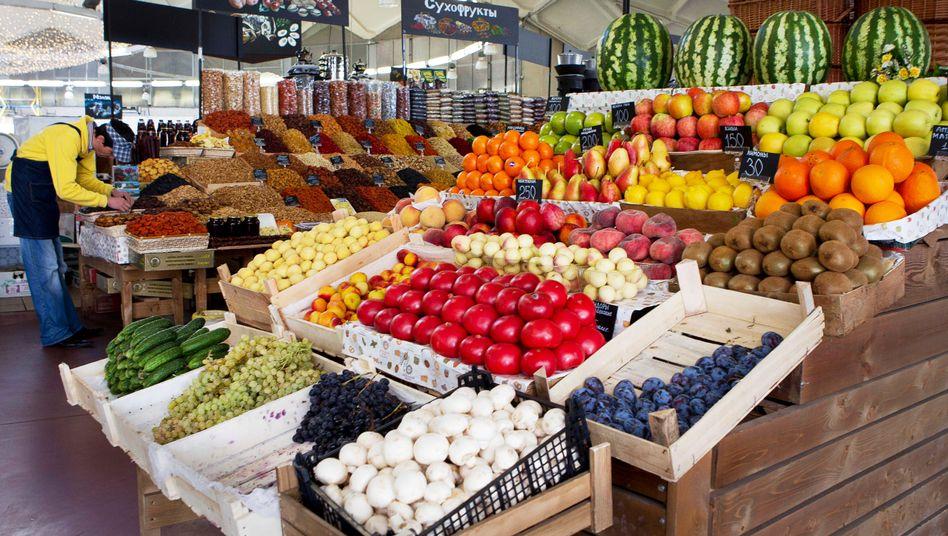 Supermarkt in Moskau: Bald weniger Waren aus Europa und den USA