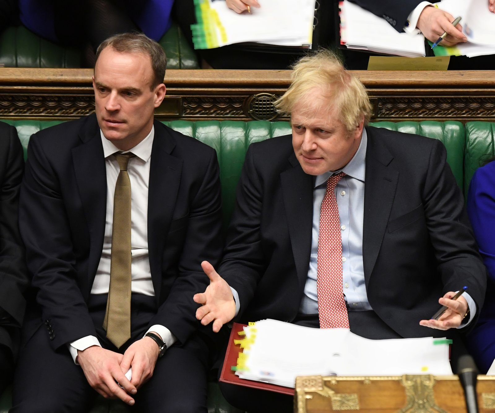 Prime Minister's Questions session in Parliament in London