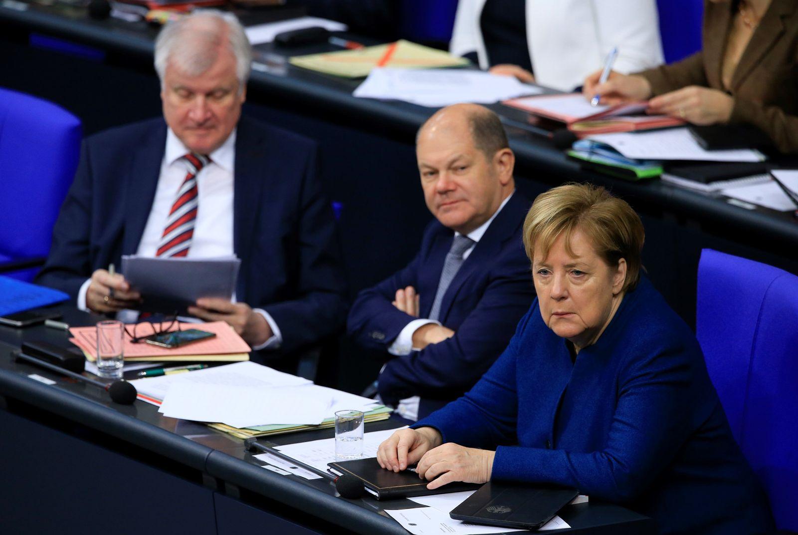 EINMALIGE VERWENDUNG Bundesregierung/ Groko/ Plenum/ Bundestag