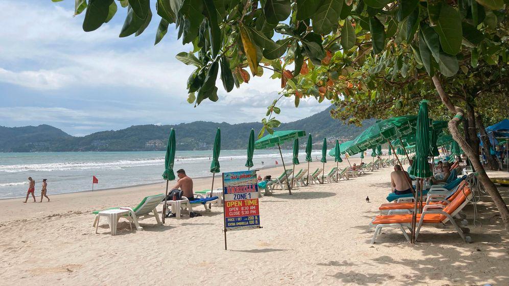 Patong Beach auf der Insel Phuket: Wenig Touristen trotz Modellprojekt