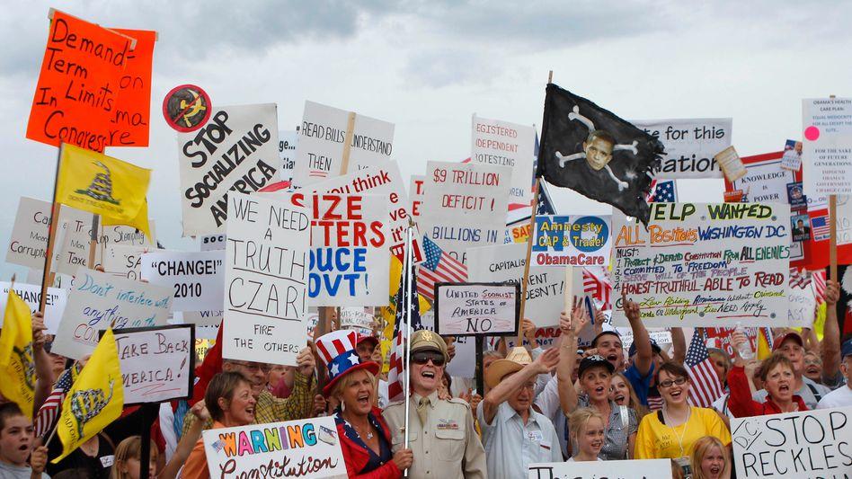 """Proteste der Tea Party: """"Komplette Kapitulation der Demokraten"""""""