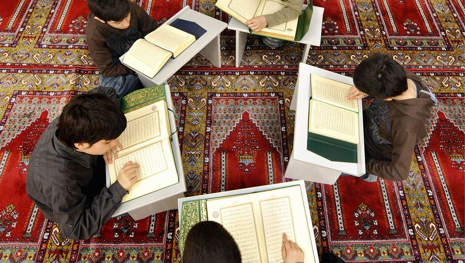 Muslim children taking part in Koran lessons in a mosque in Augsburg. Germans are increasingly skeptical of Muslims in the country.