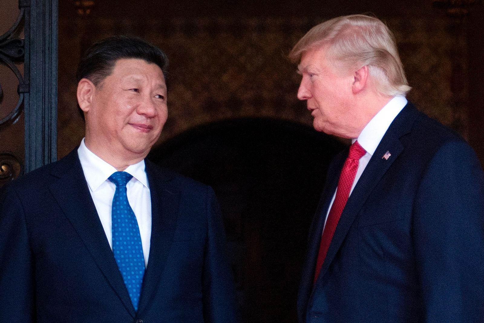 EINMALIGE VERWENDUNG Trump / Xi Jinping