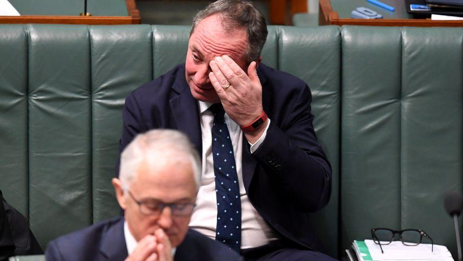 Turnbull (vorn) mit seinem Vize Joyce