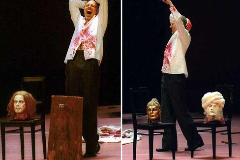 """Mohammed-Kopf aus der Neuenfels-Inszenierung der Mozart-Oper """"Idomeneo"""": Ein völlig idiotischer Regieeinfall?"""
