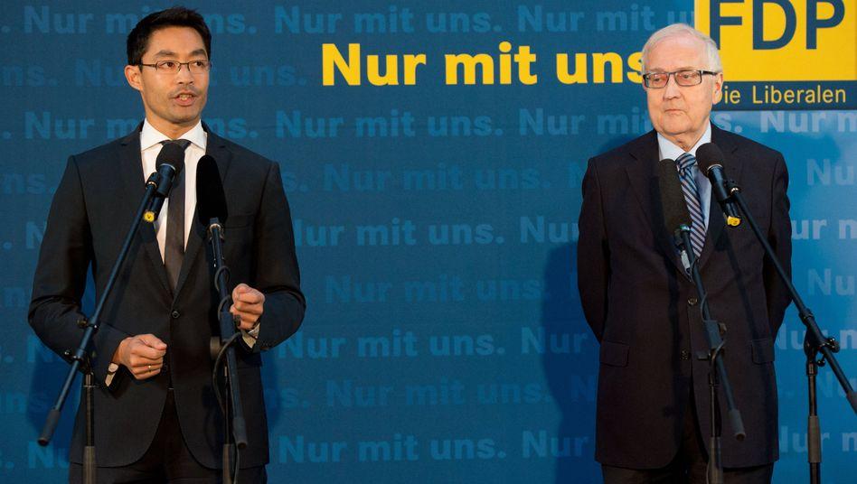FDP-Chef Rösler, Spitzenkandidat Brüderle: Warnung vor Rot-Rot-Grün