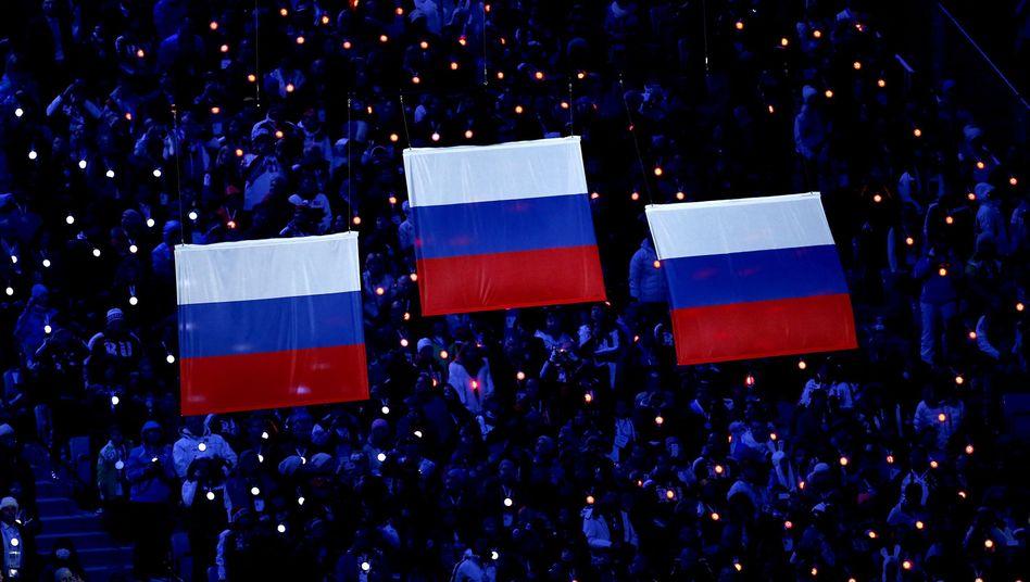 Abschlusszeremonie der Olympischen Spiele im russischen Sotschi (2014)