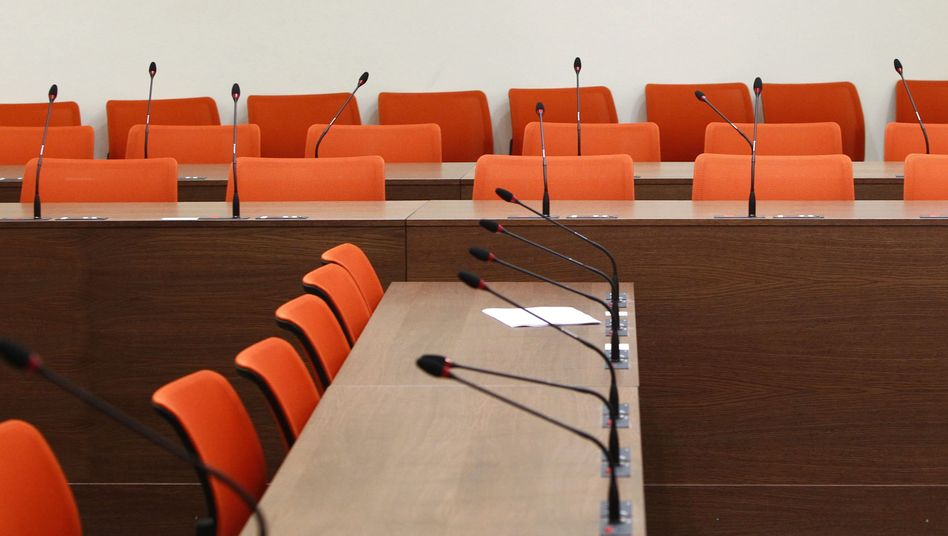 The courtroom where the NSU neo-Nazi trial is now due to start on May 6.