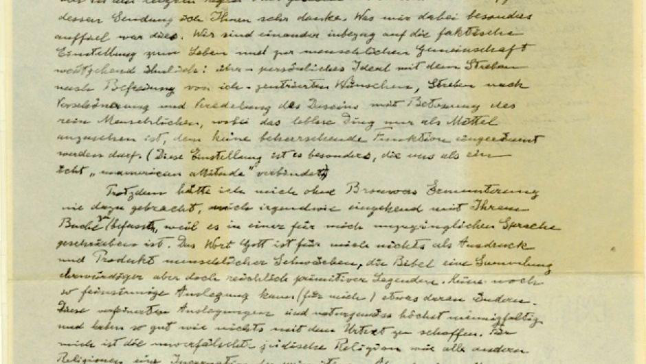 Einstein Gottesbrief