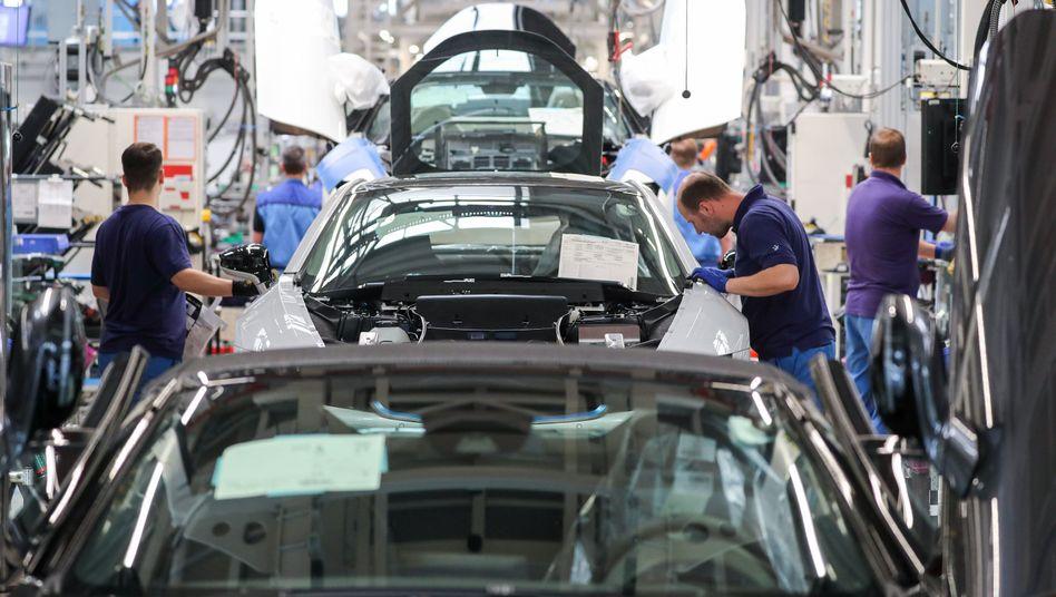 Beschäftigte in Leipziger BMW-Werk: Die Autoindustrie leidet unter dem Strukturwandel