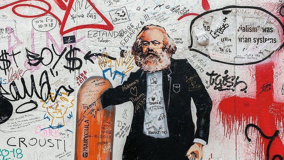Marx-Graffito in Berlin