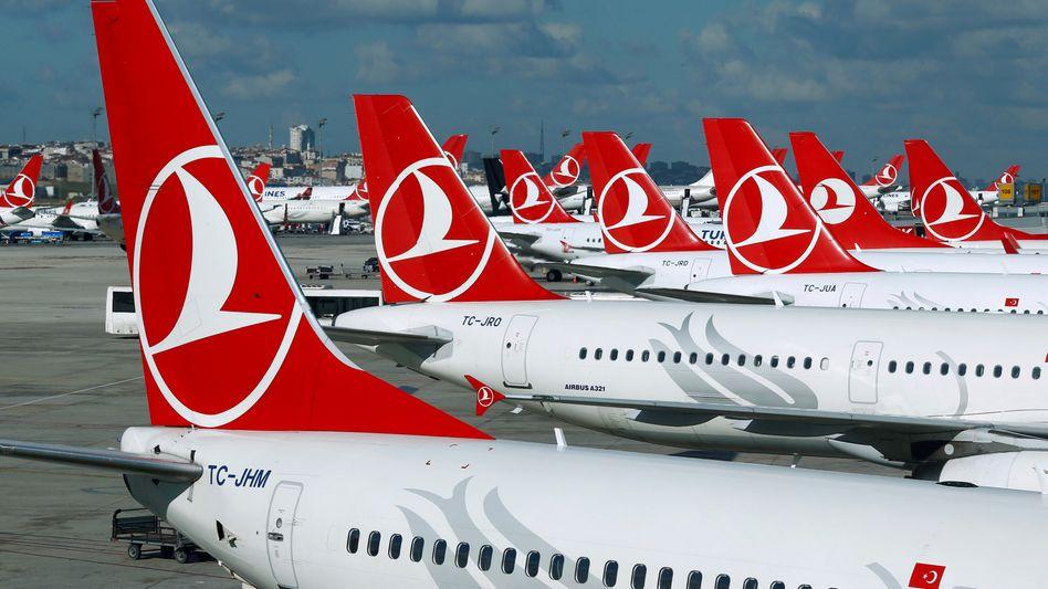 Maschinen der Turkish Airlines (Symbolbild)