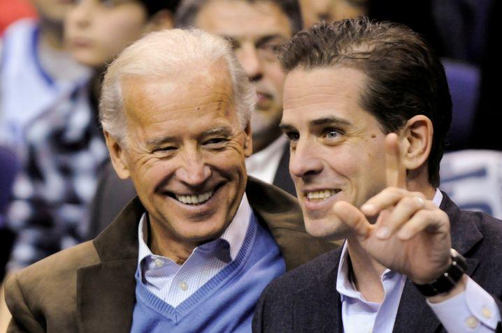 Joe Biden und sein Sohn Hunter Biden stehen im Mittelpunkt der Attacken des Präsidenten