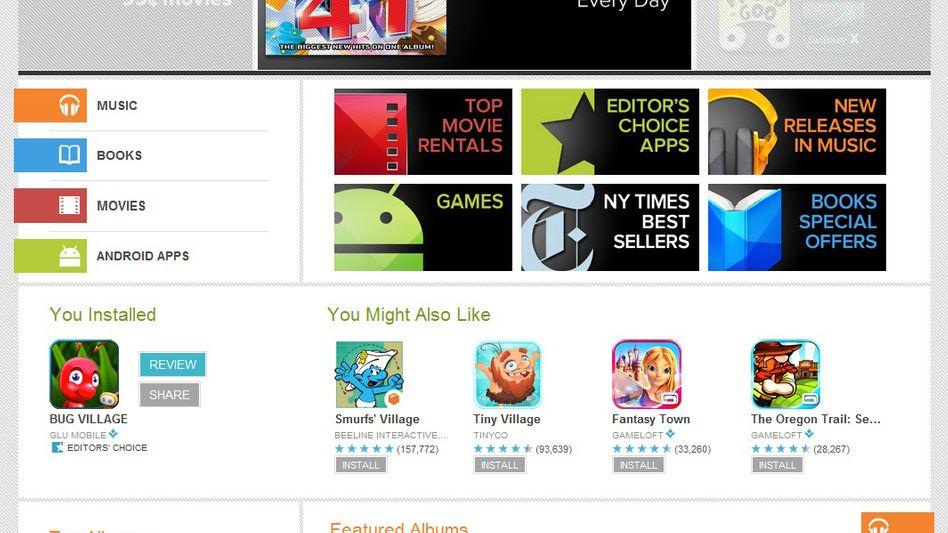 Screenshot vom Google Play Store: Bald nur noch mit Altersfreigabe