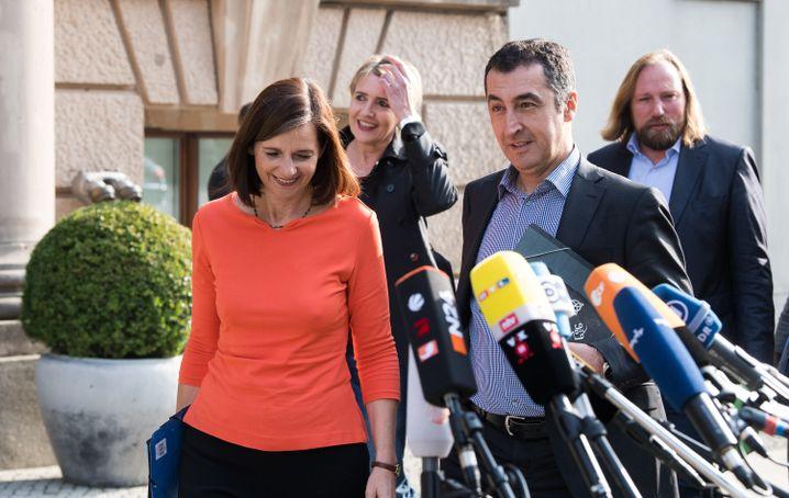 Grünen-Politiker Göring-Eckardt, Peter, Özdemir und Hofreiter