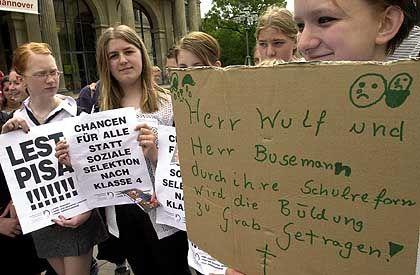 Schülerprotest (in Hannover): Früh trennen sich künftig die Wege