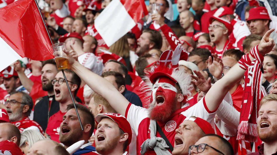 So viele Fans wie bei den Spielen in Kopenhagen werden es in Wembley wohl nicht