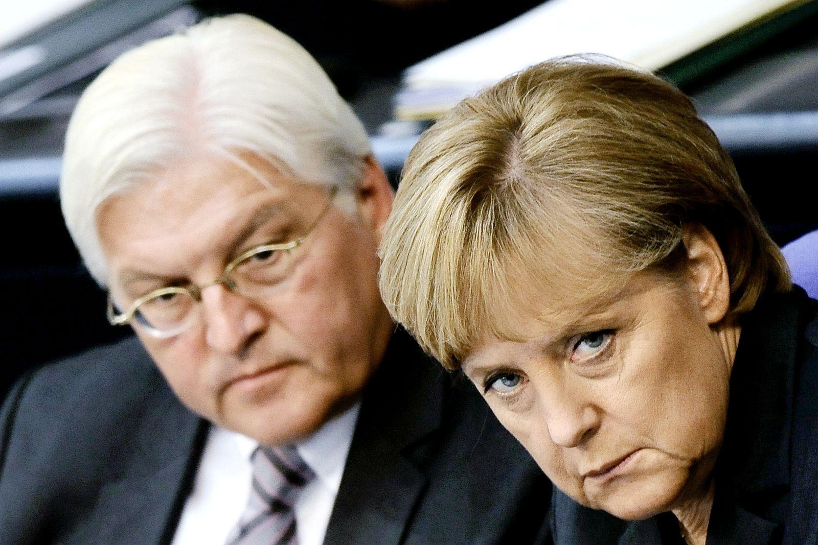 NICHT VERWENDEN Merkel Steinmeier