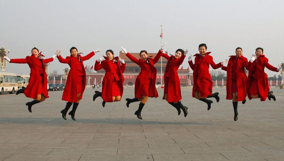 Chinesische Hotelmitarbeiterinnen in Peking: Was ist Glück?