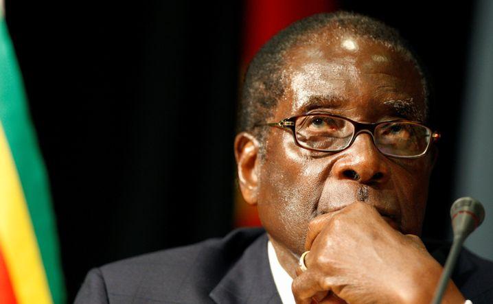 Robert Mugabe, an der Macht von 1980 bis 2017