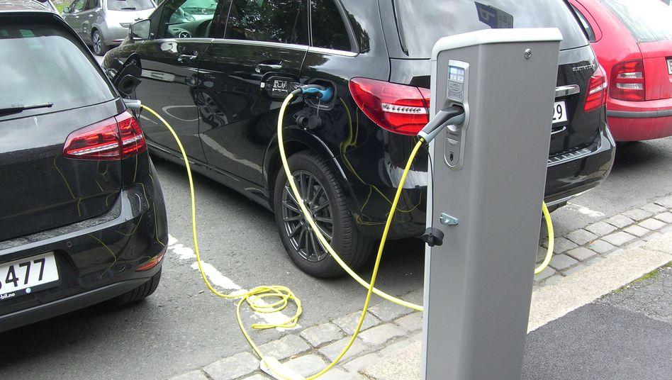 Ladestation für E-Autos in Oslo