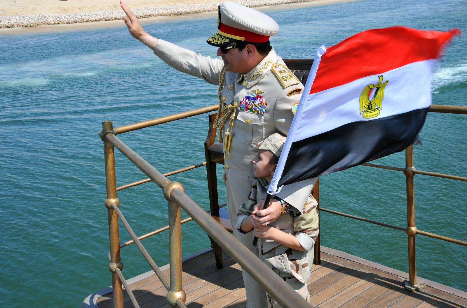 CAIRO Aug 6 2015 The handout photo from Egypt s state run news agency shows Egyptian Presiden