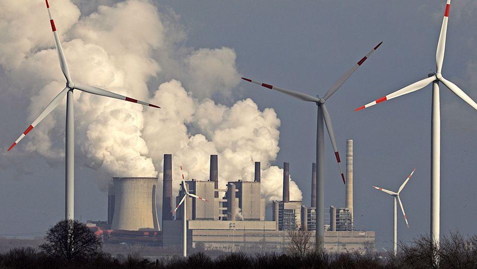 Braunkohlekraftwerk Neurath in Nordrhein-Westfalen (Januar 2019)