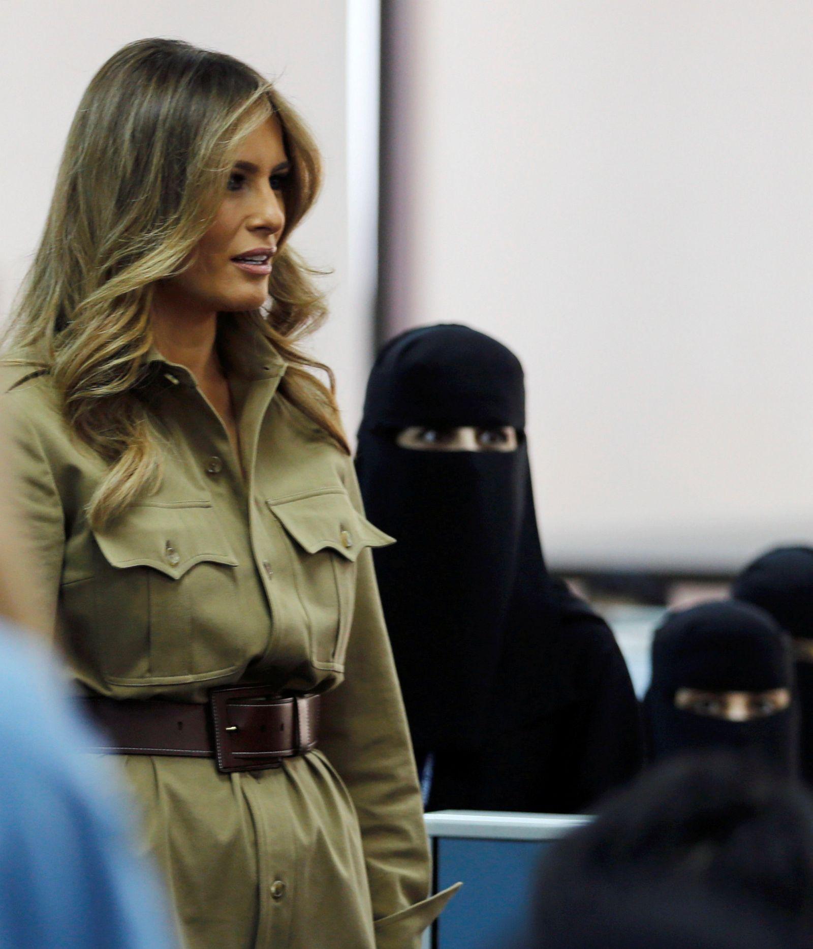 Melania Trump verschleierte Frauen Saudi-Arabien