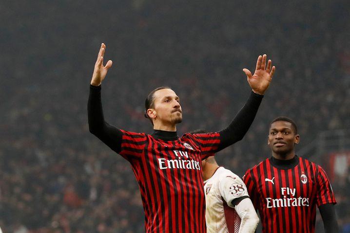 Milans Zlatan Ibrahimovic Ende Januar im Pokal gegen Torino