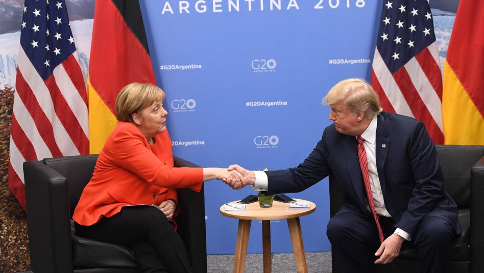Kanzlerin Angela Merkel mit US-Präsident Donald Trump