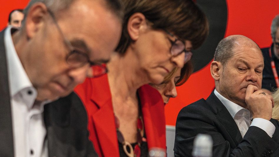 Sozialdemokraten Walter-Borjans, Esken, Scholz