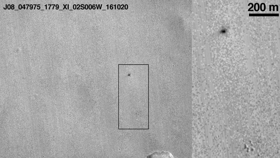 """Erstes Foto nach der Bruchlandung der europäisch-russischen Sonde """"Schiaparelli"""" auf dem Mars"""