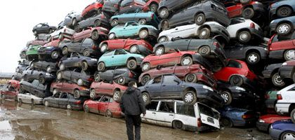 Government payments are encouraging Germans to scrap their old cars and buy new ones.