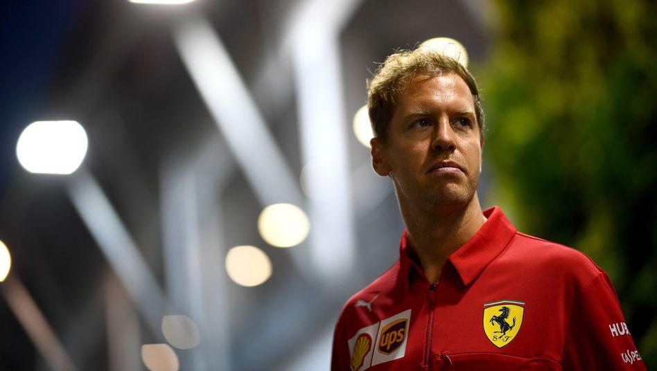 """Sebastian Vettel: """"Echt schwer, da wieder herauszukommen"""""""