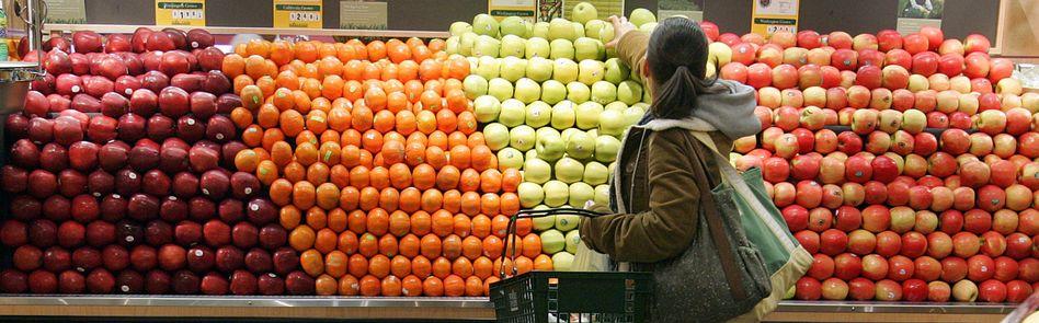 Obststand in einem Einkaufszentrum