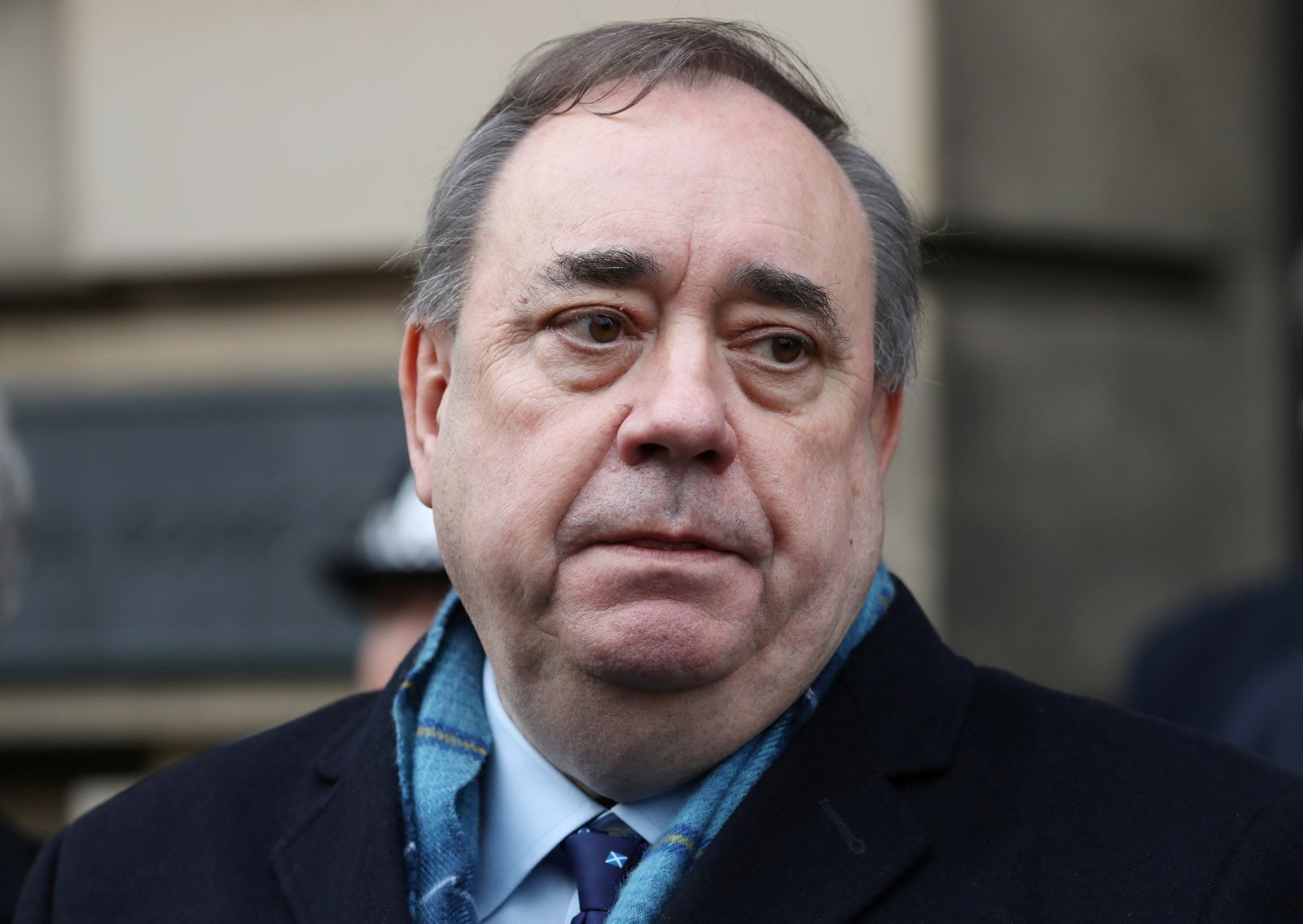 Former First Minister of Scotland Alex Salmond leaves the High Court in Edinburgh