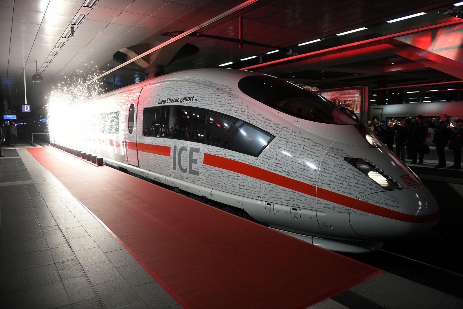 Eröffnung der Bahn-Schnellstrecke München-Berlin