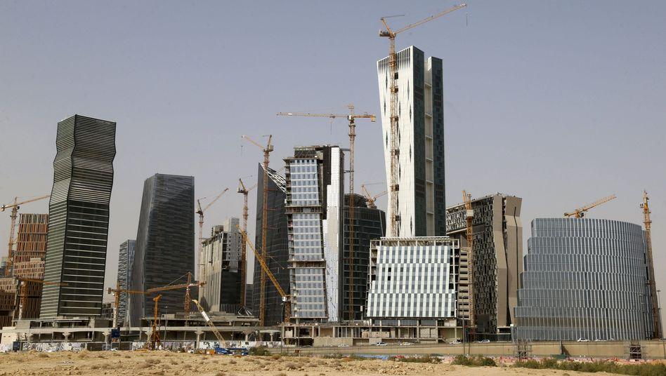 Finanzbezirk der saudischen Hauptstadt Riad