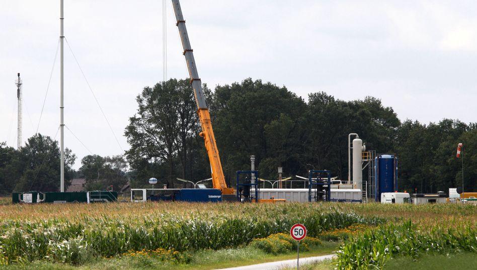 Erdgas-Bohrstelle: Suche nach Quellen