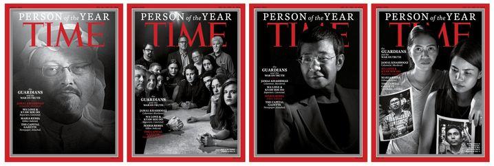 """""""Time""""-Magazintitel, in der Mitte mit Maria Ressa"""