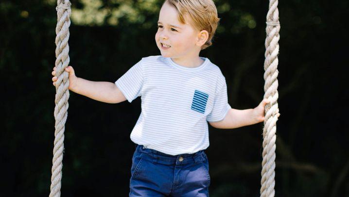 Thronfolger: Prinz George im Park