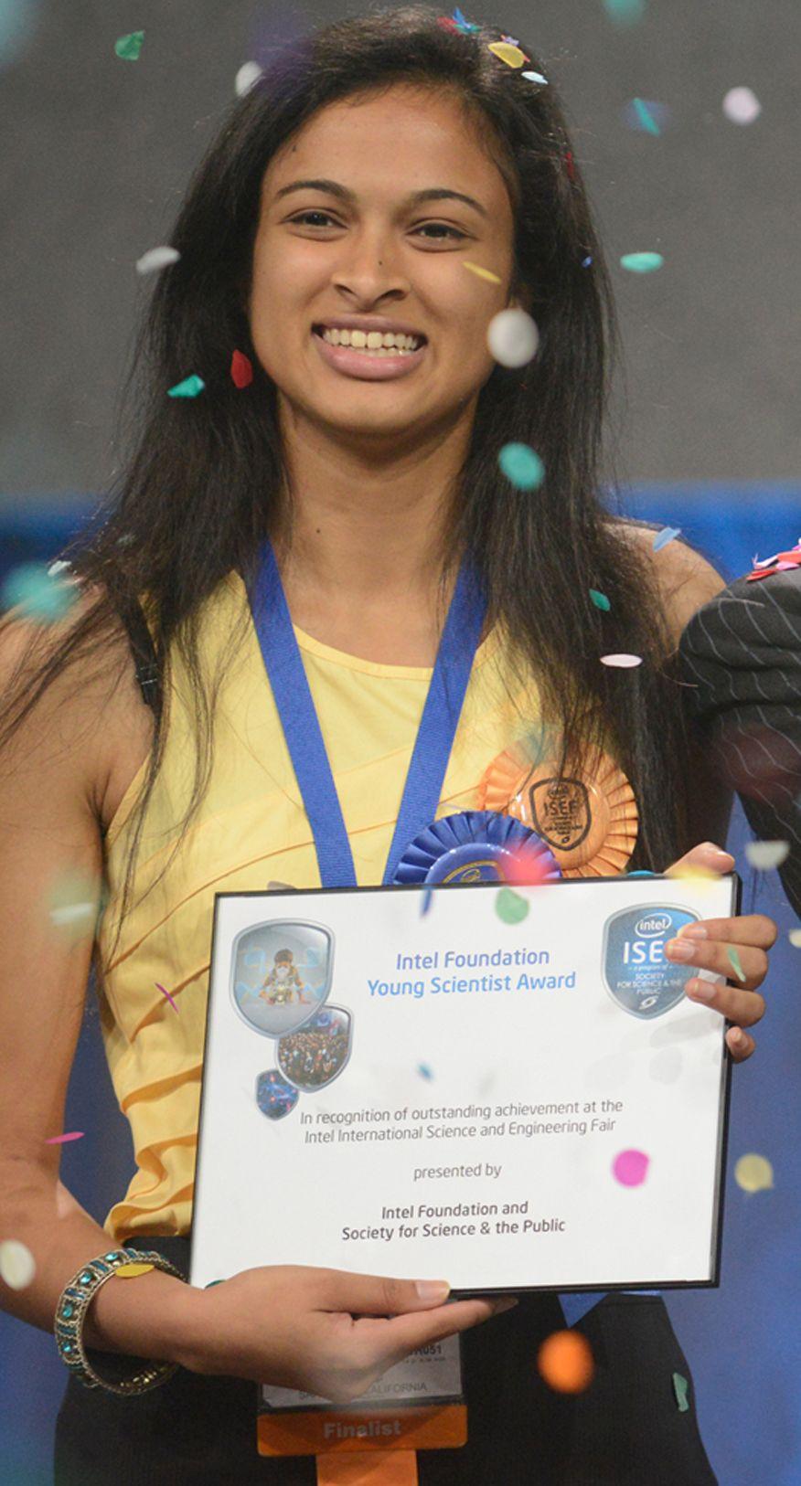 EINMALIGE VERWENDUNG Intel ISEF 2013 / Gewinner Eesha Khare