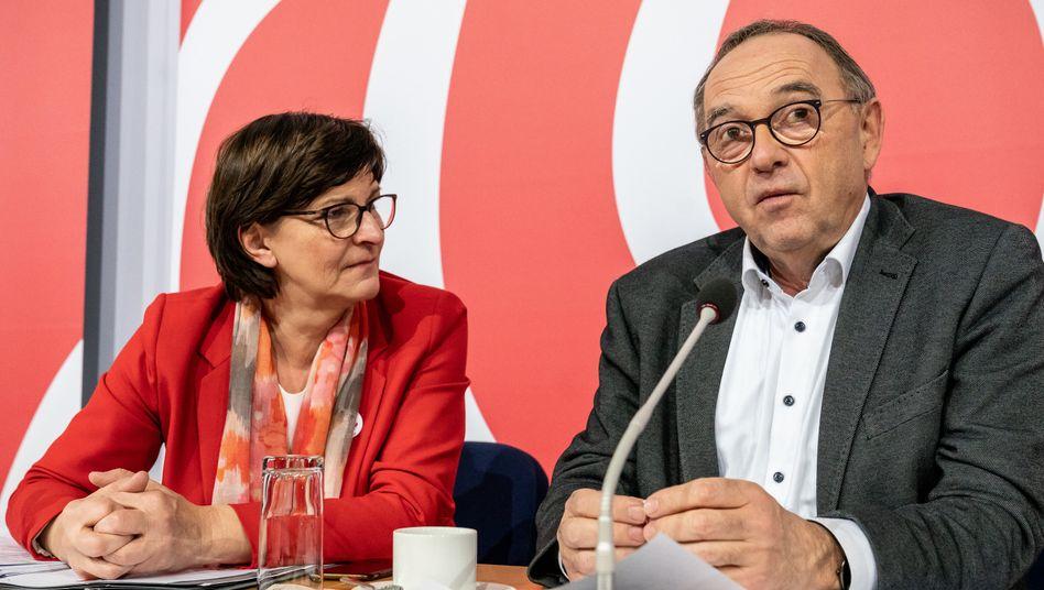"""SPD-Vorsitzende Saskia Esken, Norbert Walter-Borjans: """"Lindner zündelt schon wieder"""""""