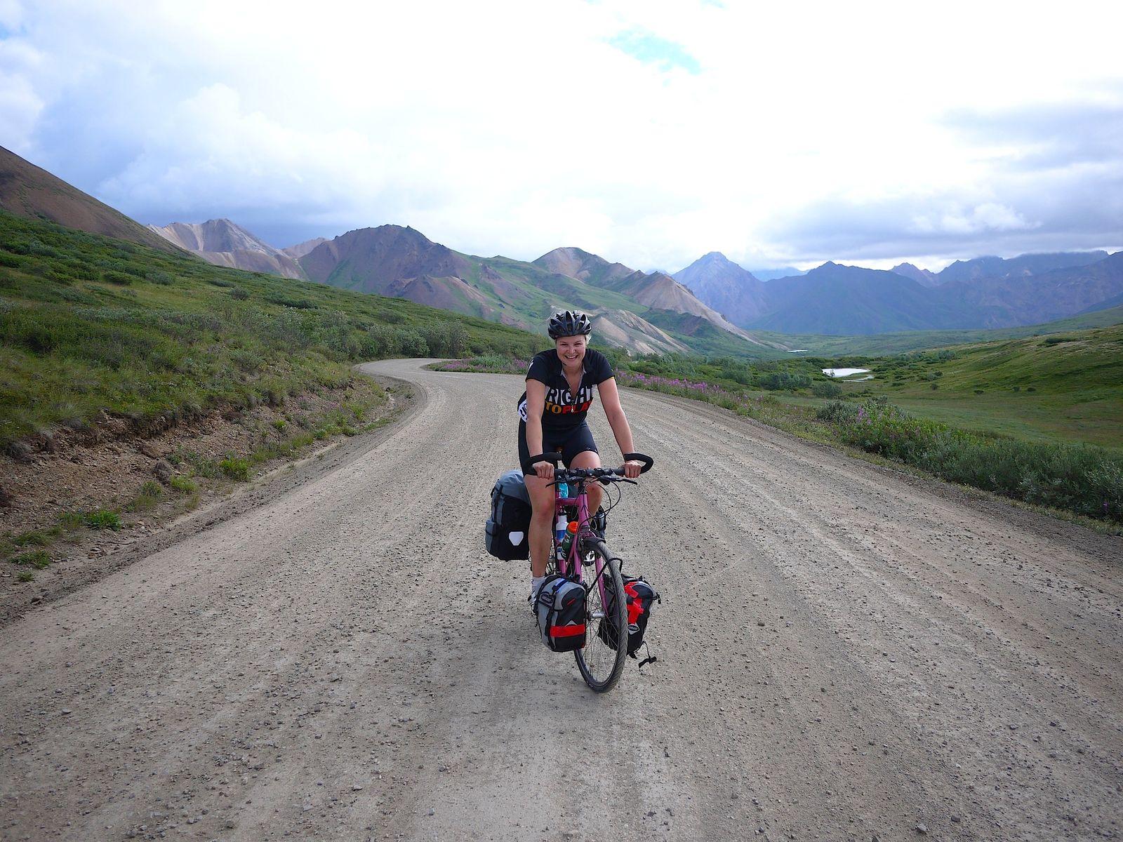 Riding through Denali National Park Alaska