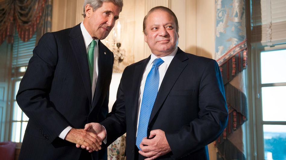 """US-Außenminister Kerry mit Pakistans Premier Sharif: """"Die Beziehungen zu Pakistan sind äußerst wichtig"""""""