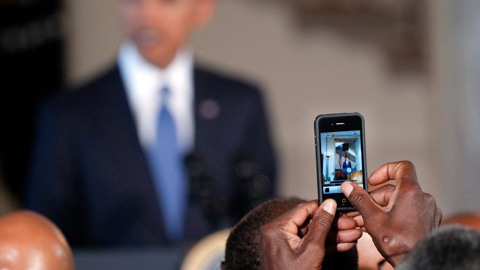 """US President Barack Obama at the White House: """"You cannot say anything negative about Barack Obama in the African-American community and get away with it."""""""