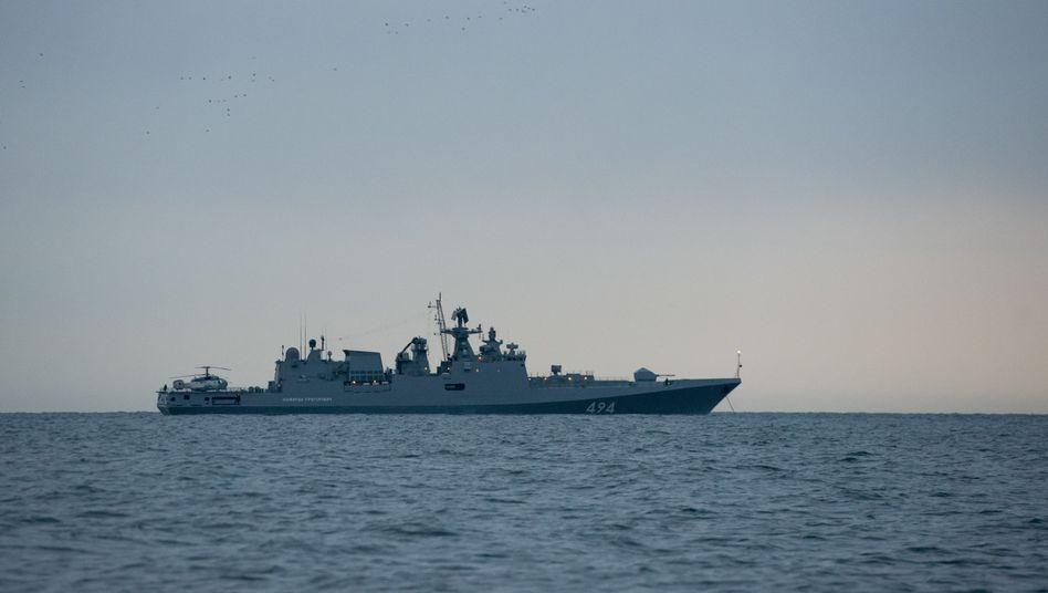Russischer Militärschiff im Schwarzen Meer