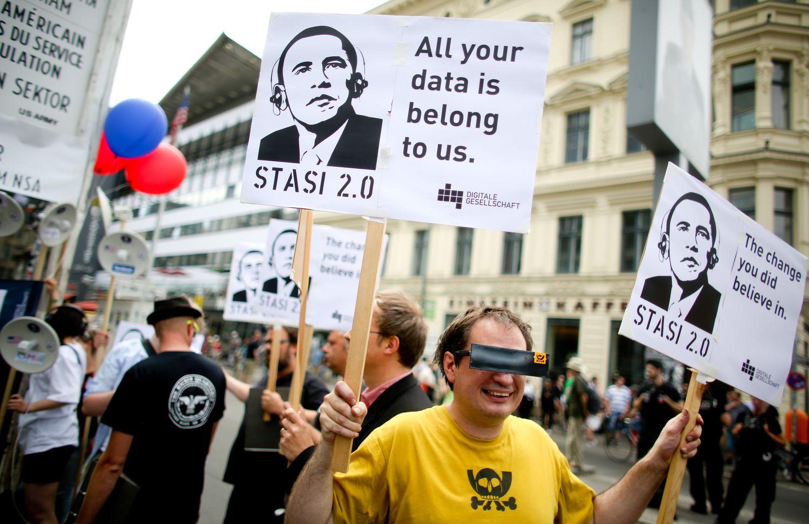 Obama in Berlin - Protest