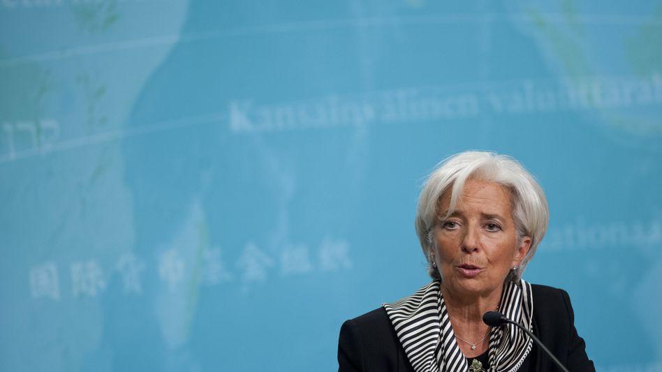 "International Monetary Fund (IMF) Managing Director Christine Lagarde: ""I have no mandate for that."""