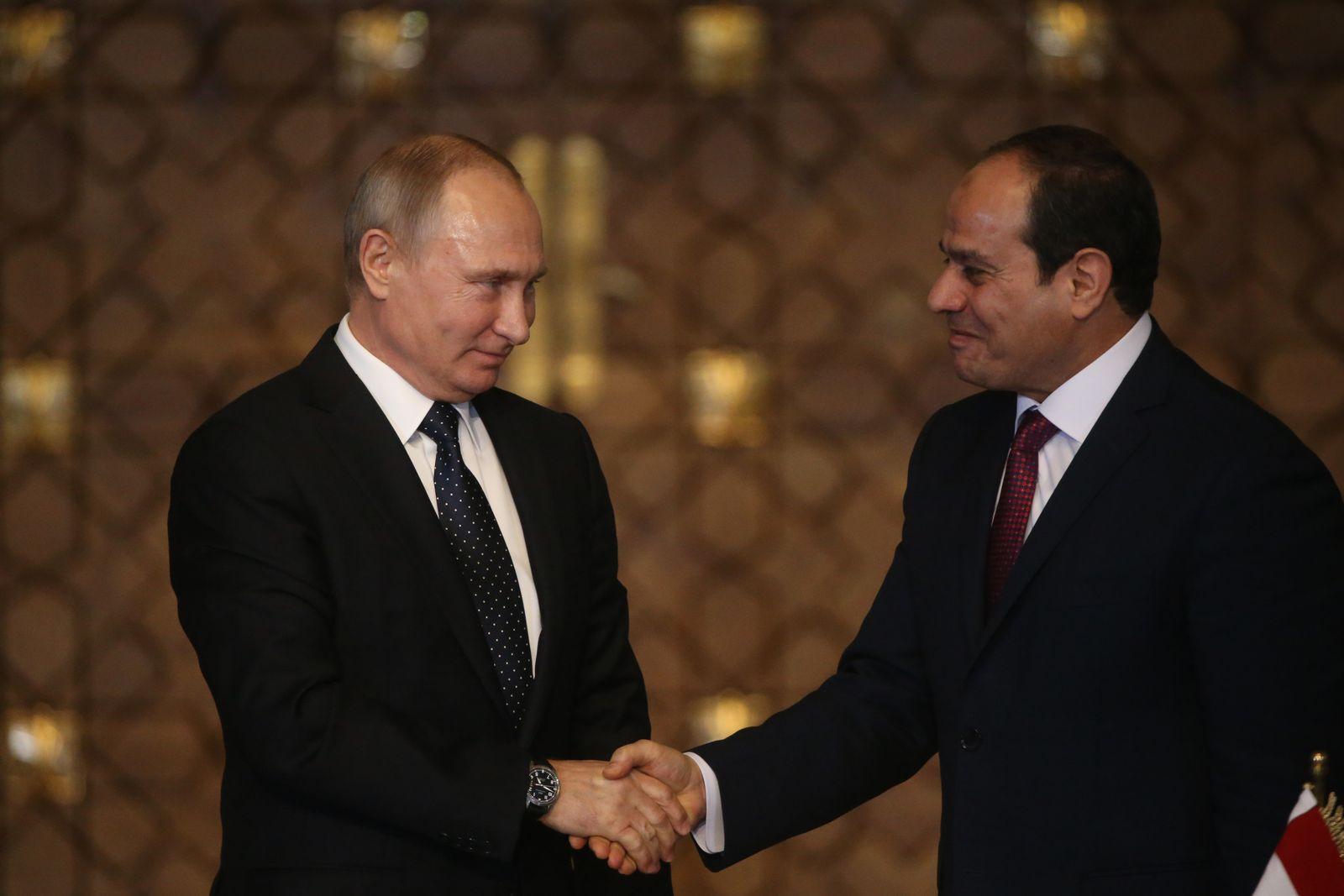 EINMALIGE VERWENDUNG Vladimir Putin/ Abdel Fattah el-Sisi